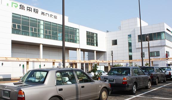 亀田駅西口タクシープールの写真